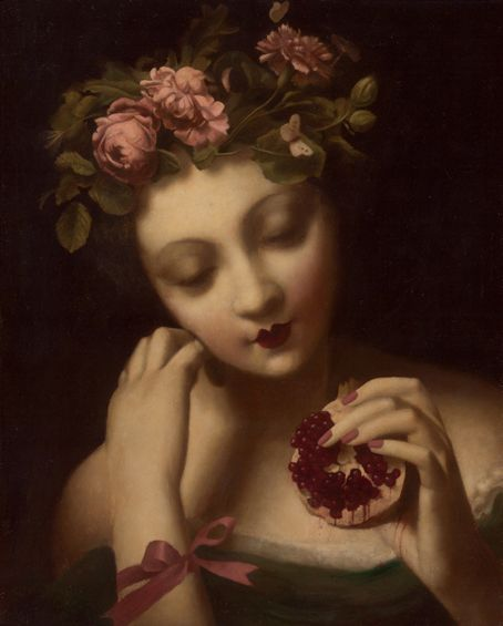 persephone and her pomegranate seeds broke n china